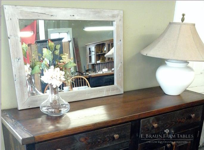 M16 - Painted Barn Wood Mirror