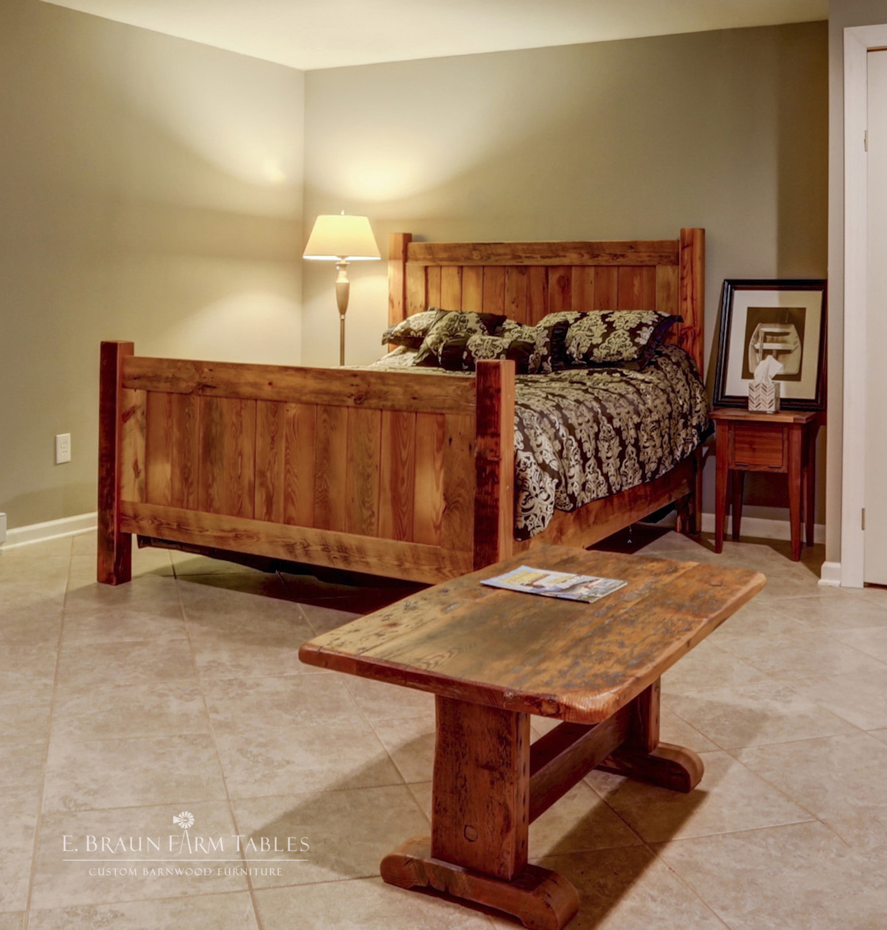 BR66 Panel Bed, Nightstand, Coffee Table