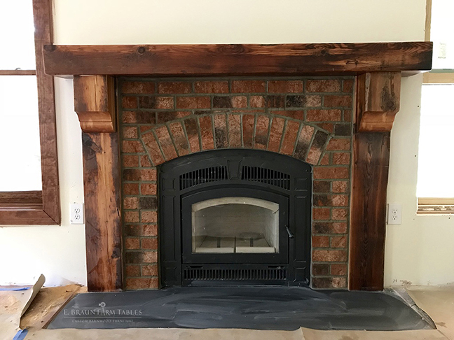 Reclaimed Fir Mantel and Fireplace  Surround