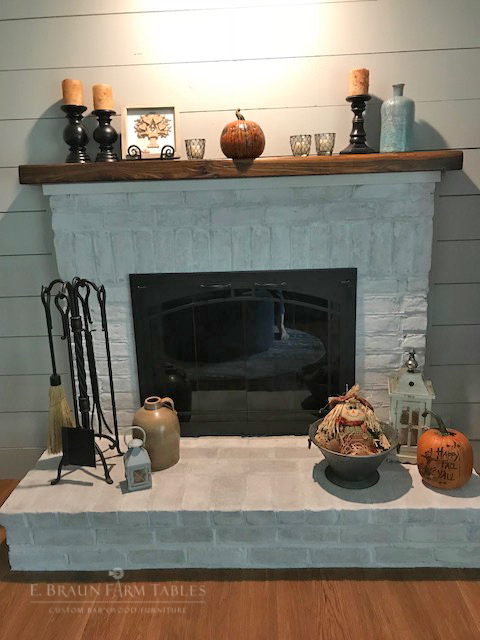 Reclaimed American Chestnut Mantel
