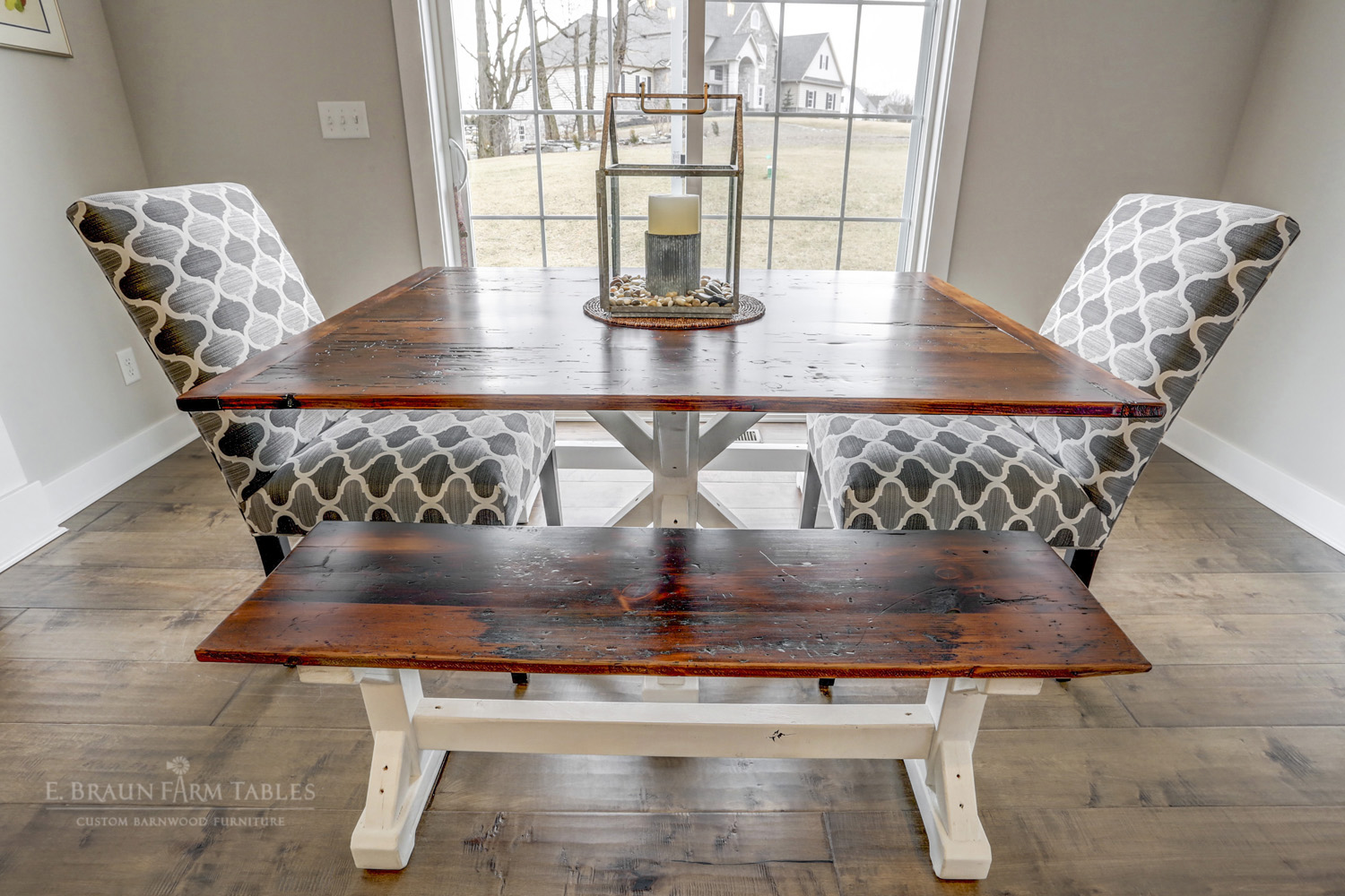 Crossbuck Pedestal Table