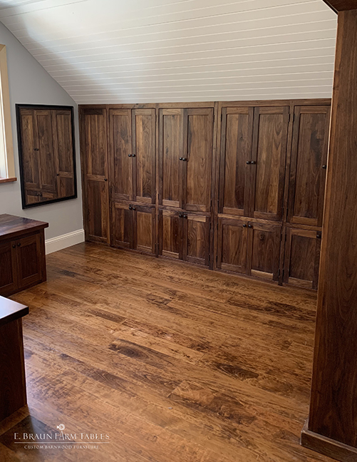 Walnut closets, Cherry flooring