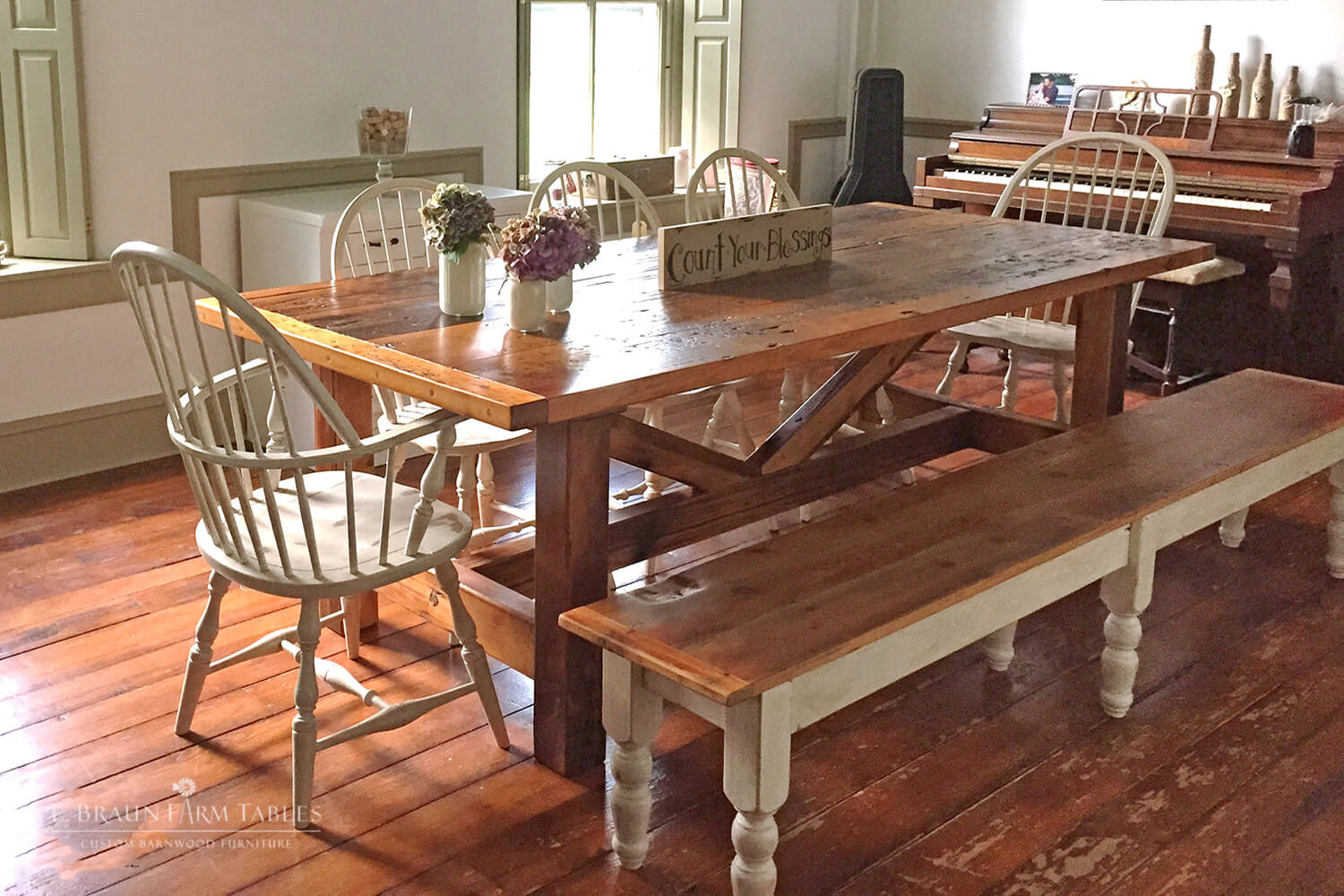 Picture of: E Braun Farm Tables And Furniture Inc