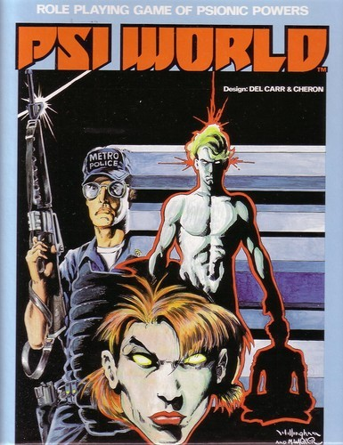 Psi World - Pub. Circa 1984Set in the near future, players become pawns in a governmental plot using citizens with extraordinary psionic abilities.