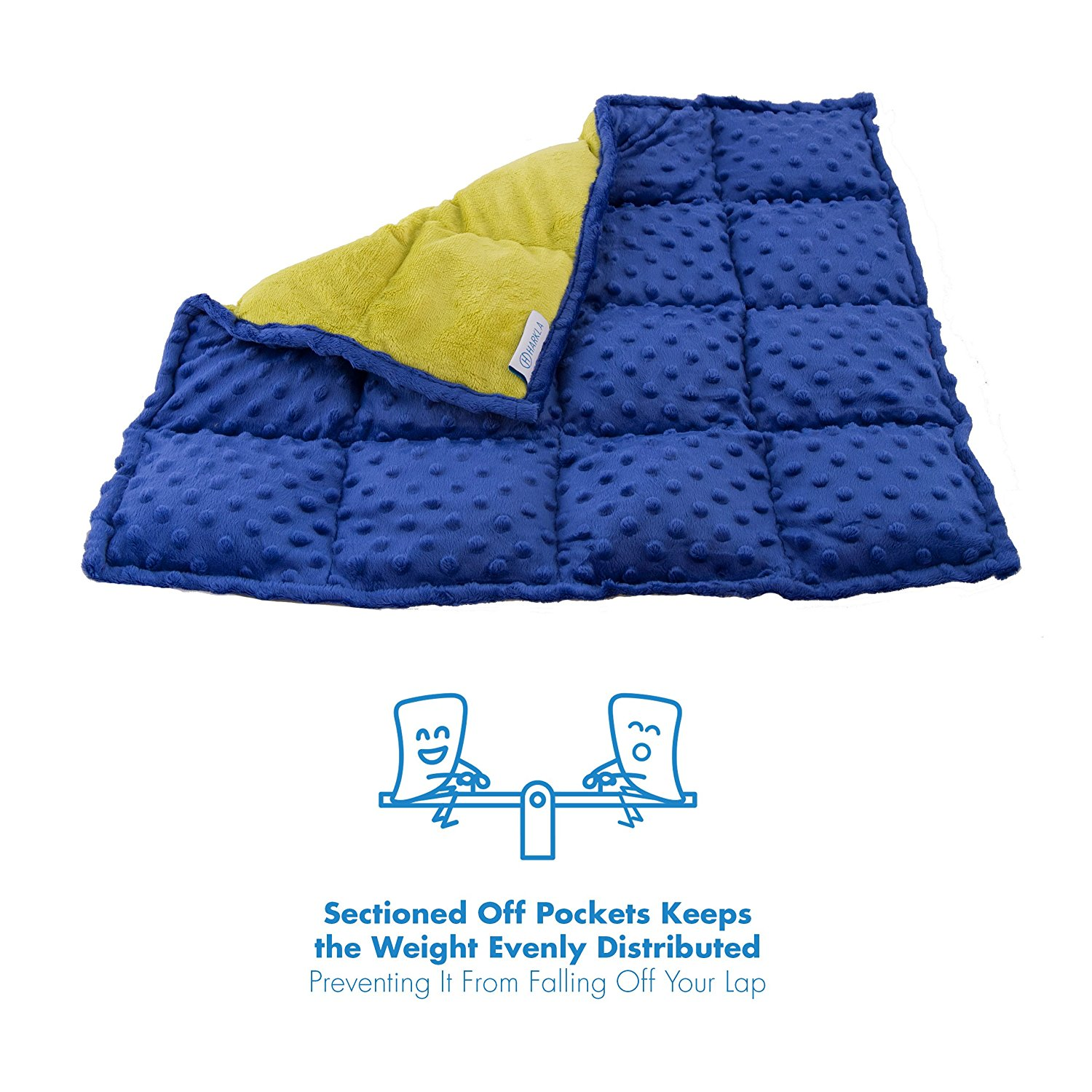 - I am LOVING this textured weighted lap blanket by Harkla