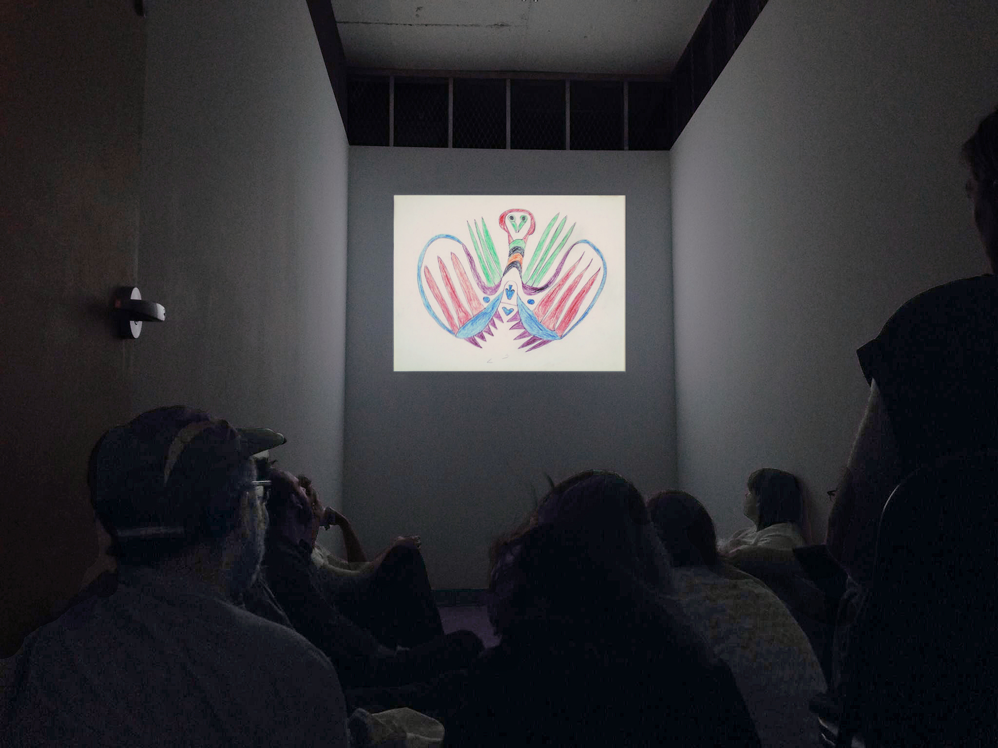 Fish Plane, Heart Clock -  screening/exhibition view, La Mirage, 2015.