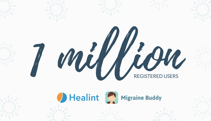 Migraine Buddy Healint One Million Registered Users Record AANAM.png