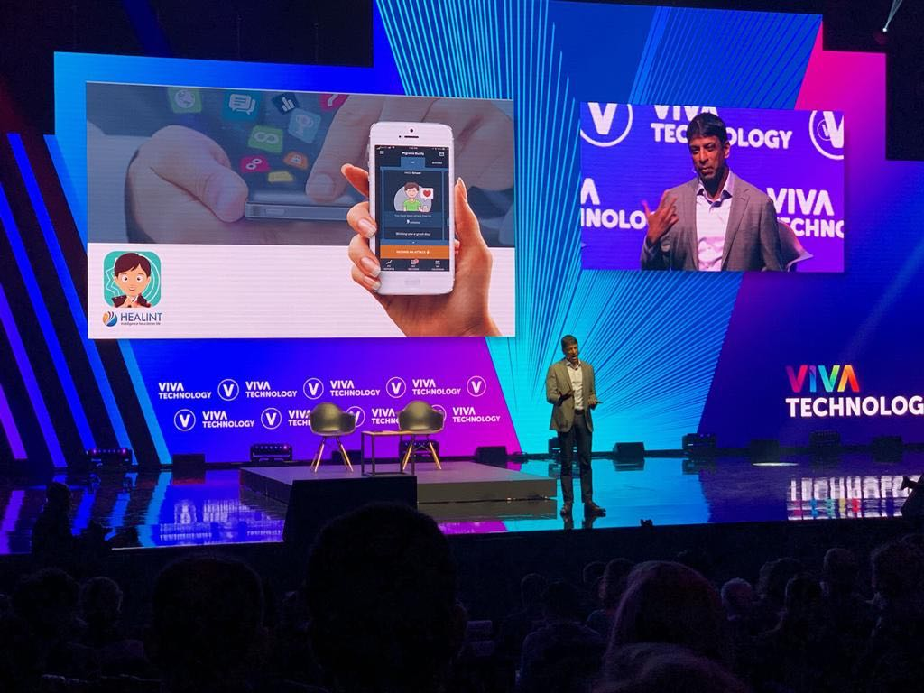 We were very proud to see Vas Narasimhan, CEO of our other partner, Novartis, introducing Healint on the main stage of the event, as « an amazing intuitive solution that empowers individuals to manage their chronic pain conditions ».
