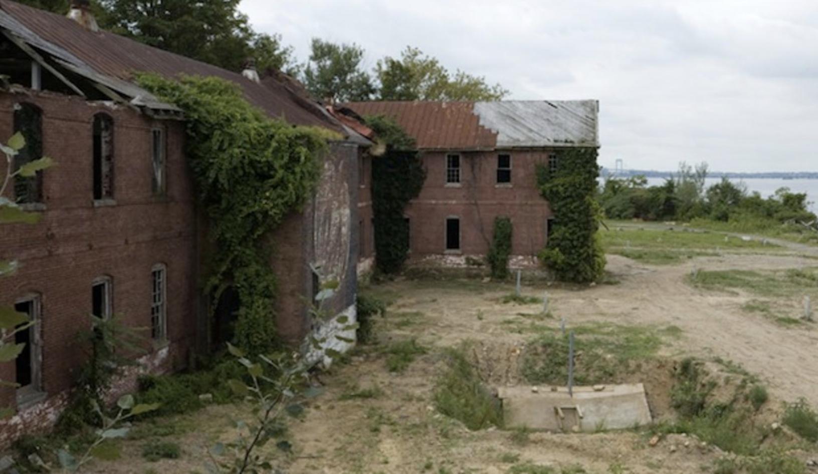Women's lunatic asylum on Hart Island.