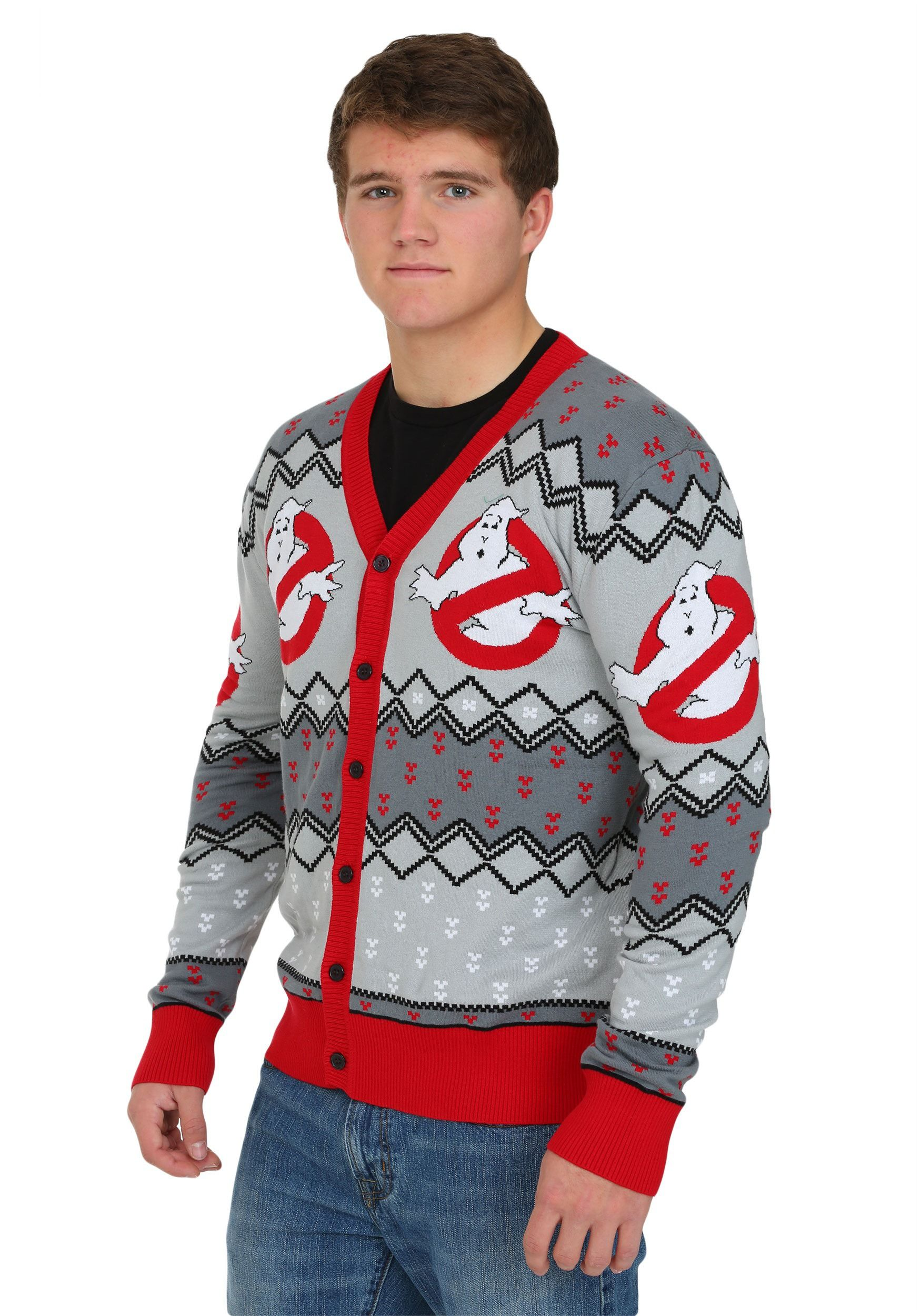 The perfect cardigan for your office Christmas party or casual Fridays at Ghostbusters Headquarters. -