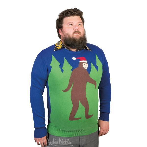 This is actually pretty tame as far as ugly Christmas sweaters go, but the sweater model just looks so majestic. -