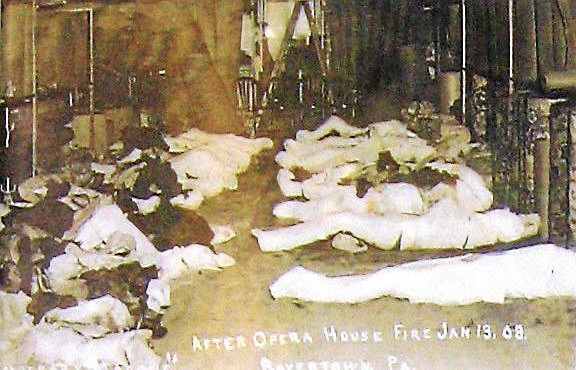 """""""After Opera House Fire Jan 13, 08. Boyertown PA"""" - a devastating look at the victims laid out in temporary morgues."""
