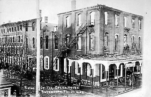 """Ruins of the Opera House Boyertown PA Jan, 08""."