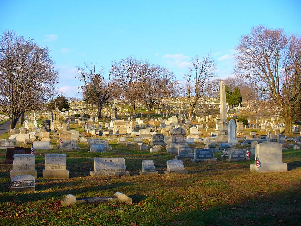 Part of Fairview Cemetery today.
