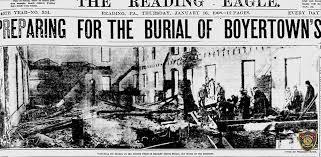 The Boyertown theater fire making headlines.