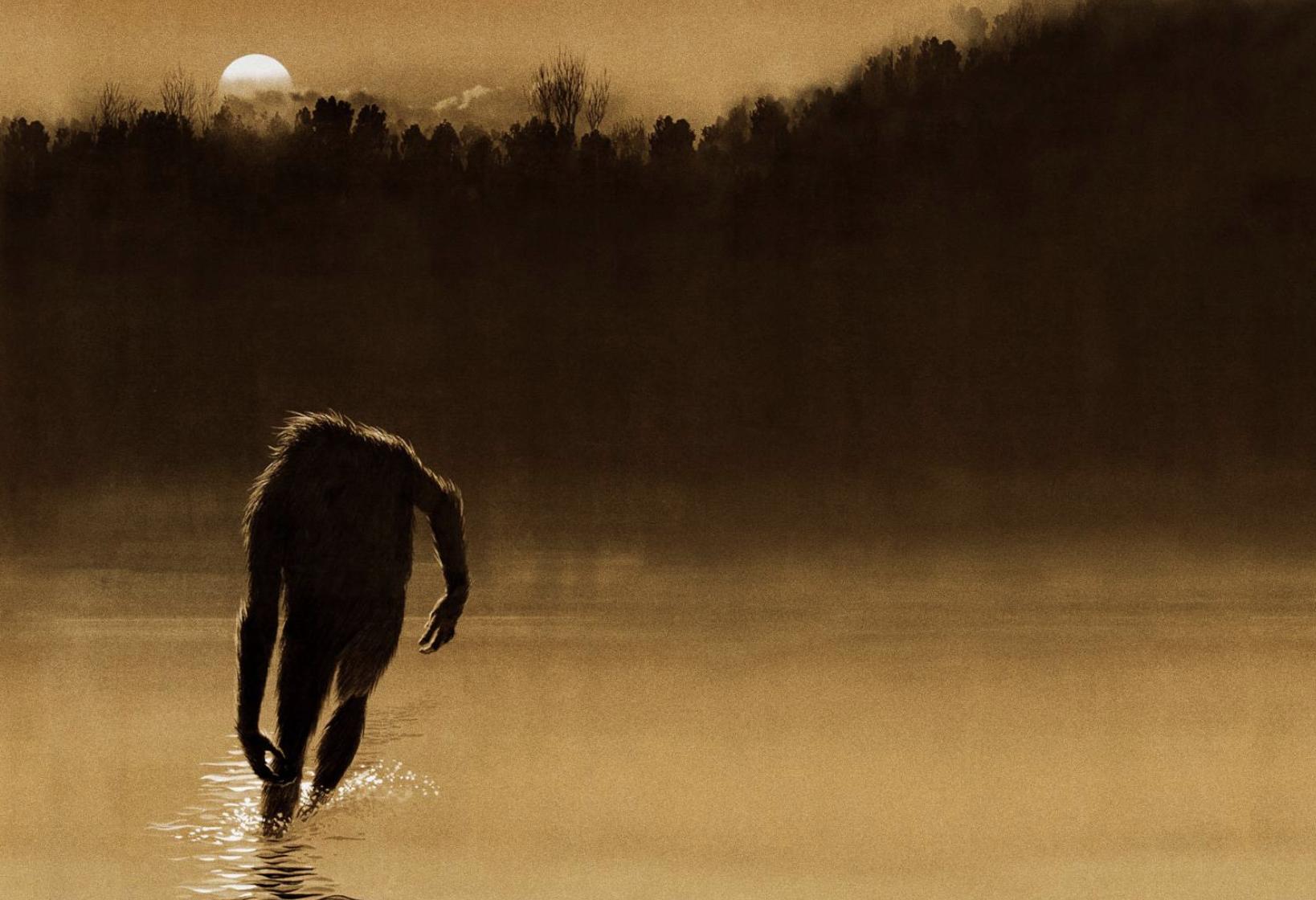 Fouke Monster artwork from  The Legend of Boggy Creek  film