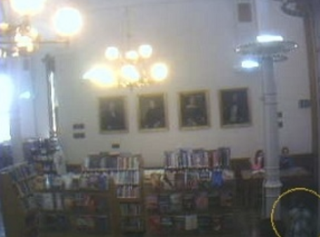Again… is this a real library patron, or a ghost child caught on camera?