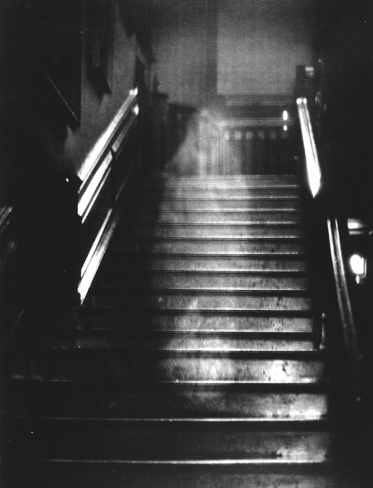 The famous image of The Brown Lady of Raynham Hall.