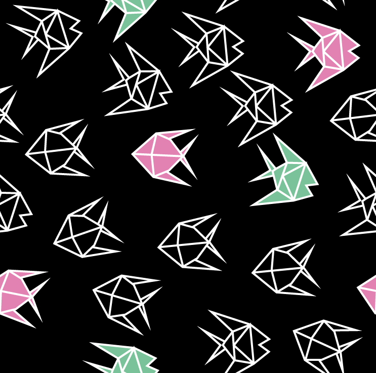 Origami Fish wrapping paper