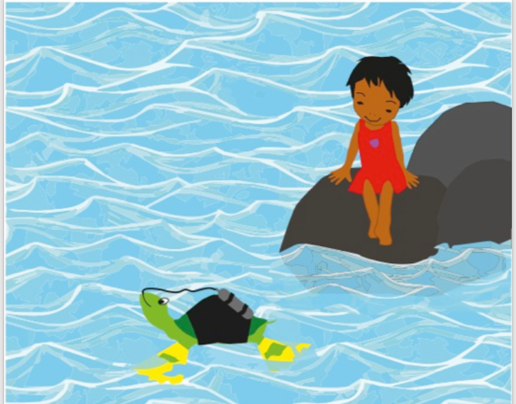 Meera and Toby, Picture book illustration