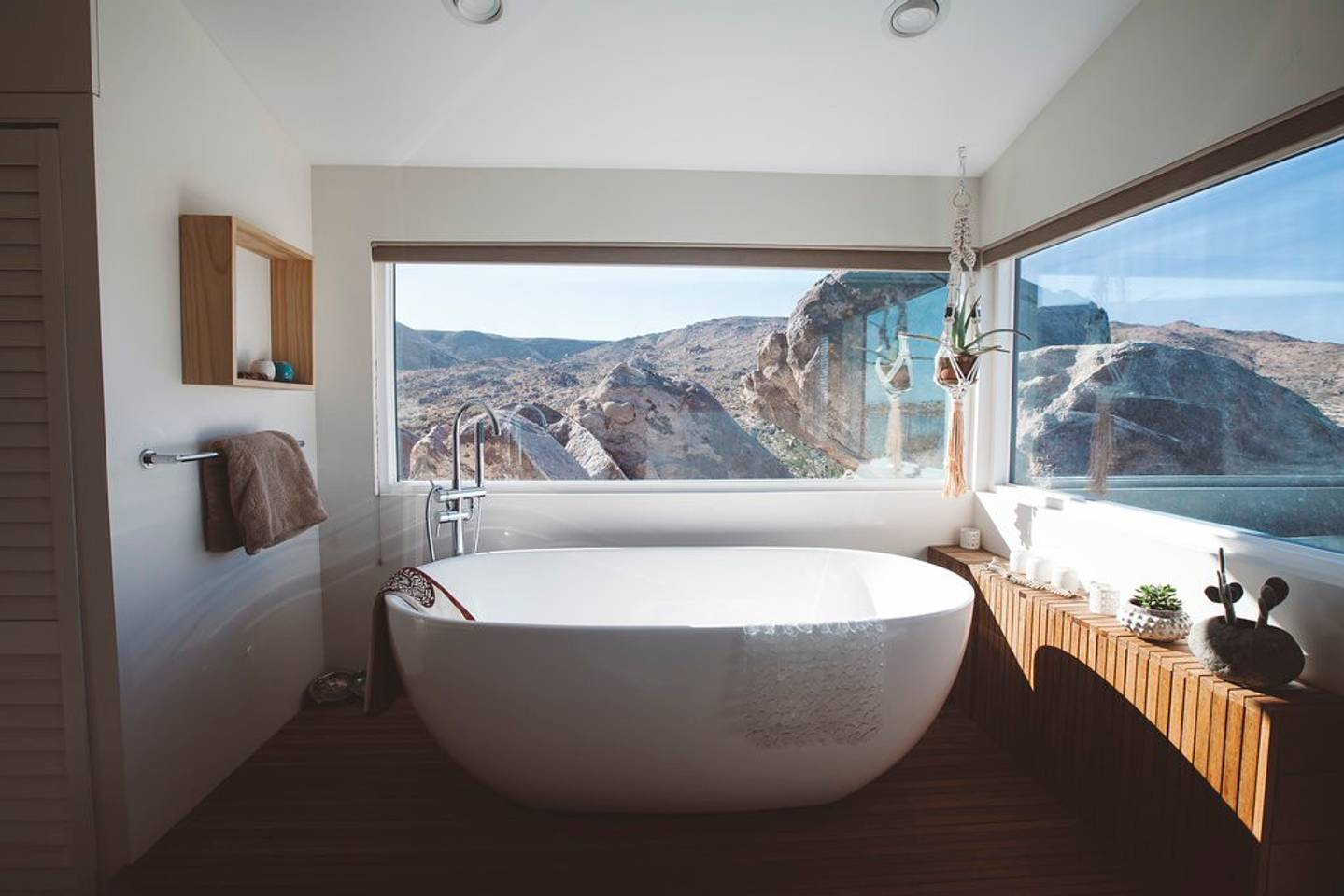 View from the bathroom at Flamingo Rocks, via Airbnb.