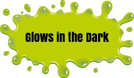 Glow in the dark customizable front logo sticker on front of the tray - your audience will never forget you! -