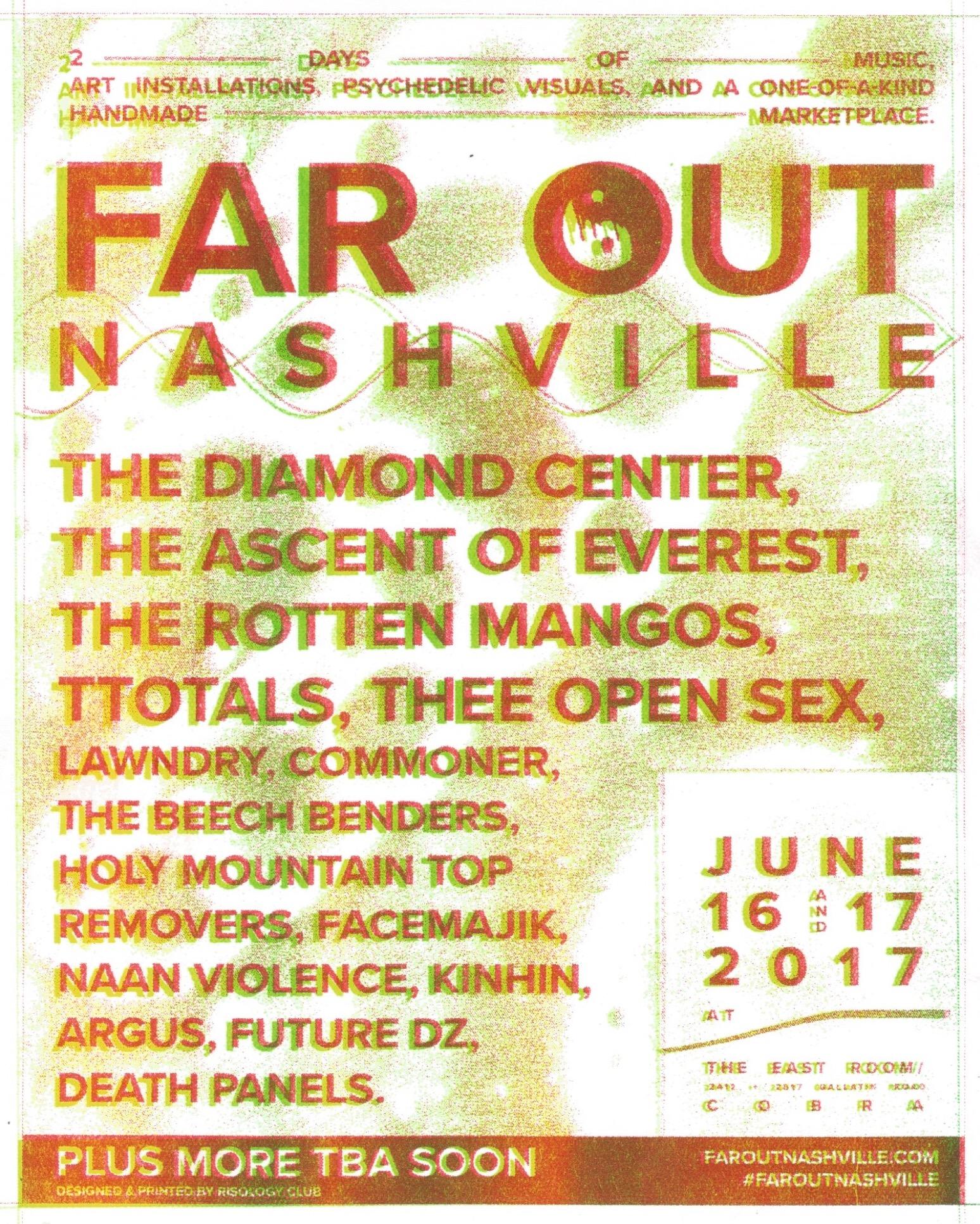 Flier designed & printed by  RISOLOGY CLUB  - Nashville, TN