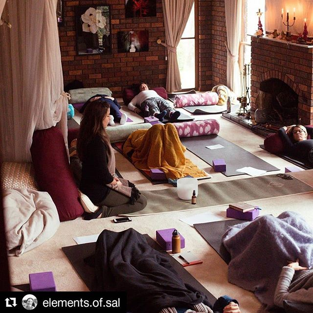 "#Repost @elements.of.sal (@get_repost) ・・・ ""Women united in spiritual circles will awaken the wisdom in each other's spirit"" ~Shikoba 🧡 Calling all Women 🧡 Join Laura, Liarna and Sally for an evening to gather in Warrandyte, August 23rd. We will come together in sacred women's circle... 🧘🏼‍♀️ a meditative heartfull yoga practice specifically designed for women's vitality will guide us into the body and invite calm and ease into the mind. 💨 Breathwork to reset, release and realign 💨 moments of guided self inquiry and heart sharing, deep listening and opportunities to be heard and held by the collective wisdom of the circle✨ ⭕️ ✨ Light refreshments for nourishment and deliciousness 😋 We warmly welcome you to join us. PM me for more details ✨💛✨ #sistersofthecycles"