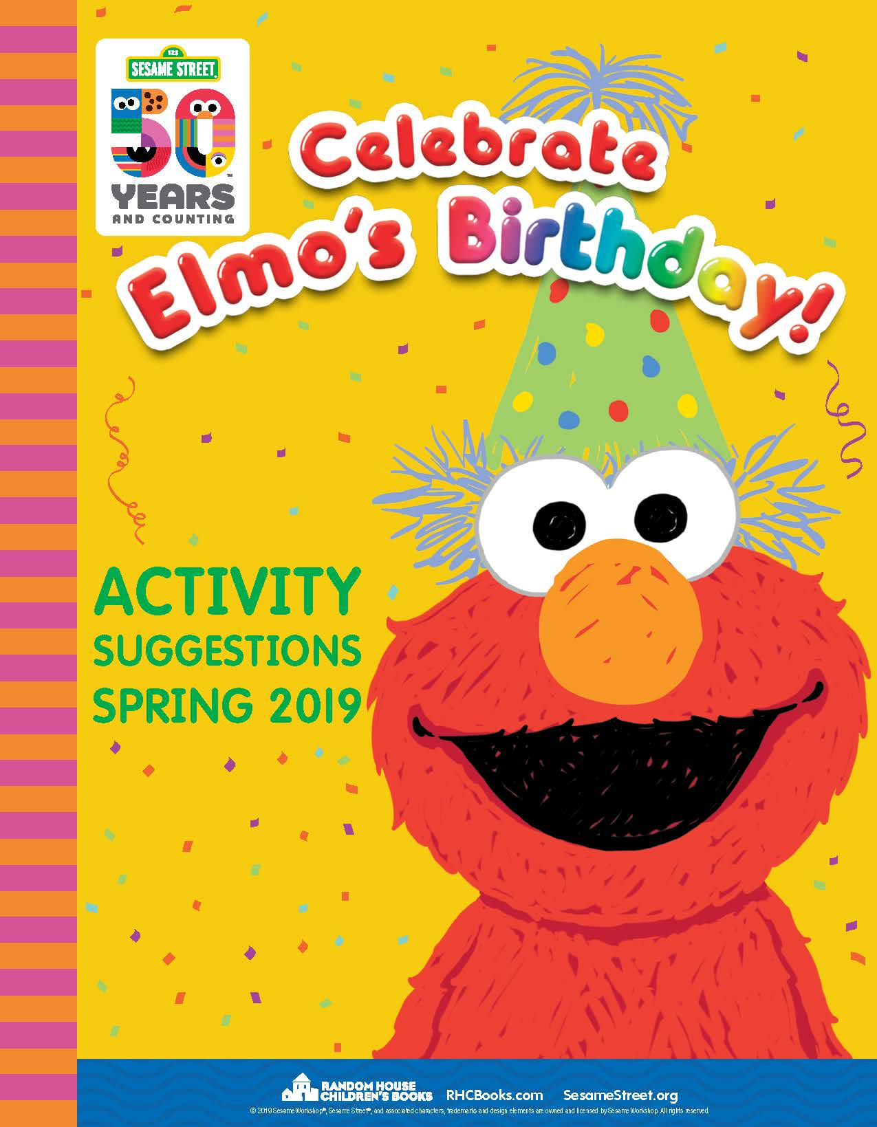 Sesame Elmo 50th Birthday Booklet -