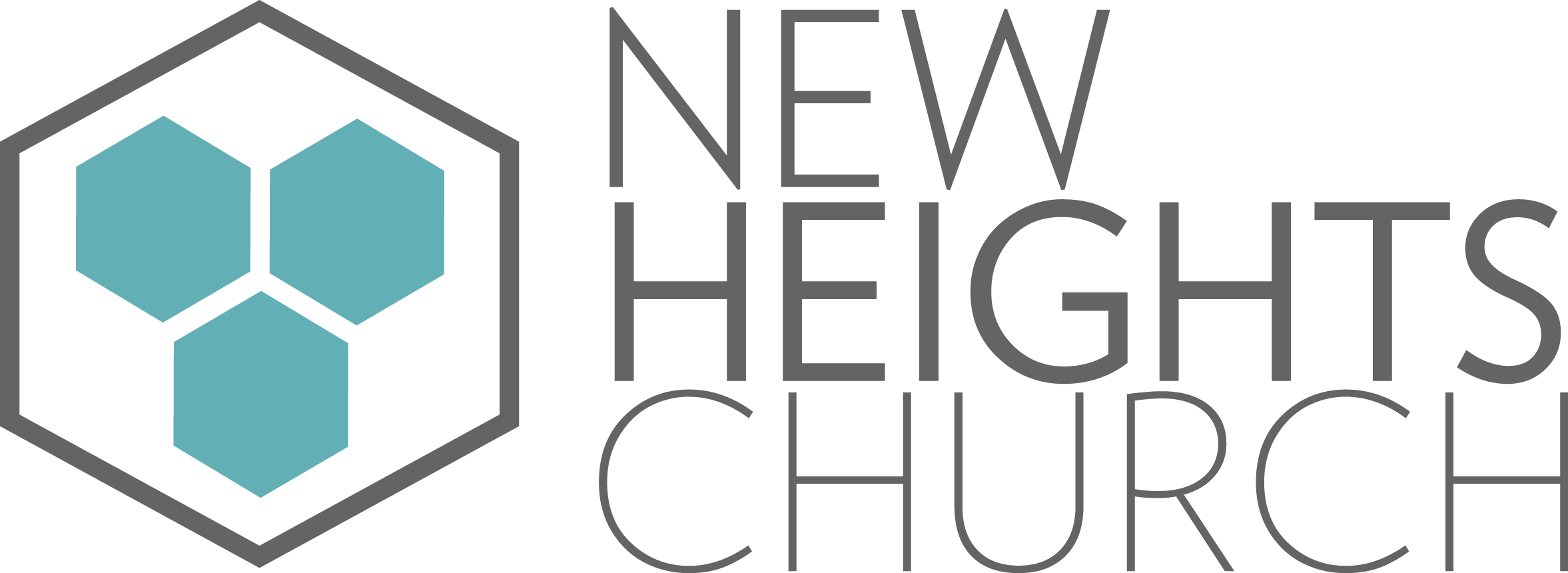 Rebranding - I rebranded our church's logo to reinforce the direction and vision of our church. Acts 2:42-47 describes the effectiveness of the early church. At New Heights, we believe there are six characteristics of a healthy spiritual community: Teaching, Fellowship, Worship, Prayer, Mission, UnityThe hexagon is a representation of this belief. The hexagons are also seen to be multiplying from one to two healthy spiritual communities symbolizing our desire to be an agent of multiplication of healthy spiritual communities in our city. There are also three hexagons representing the trinity.