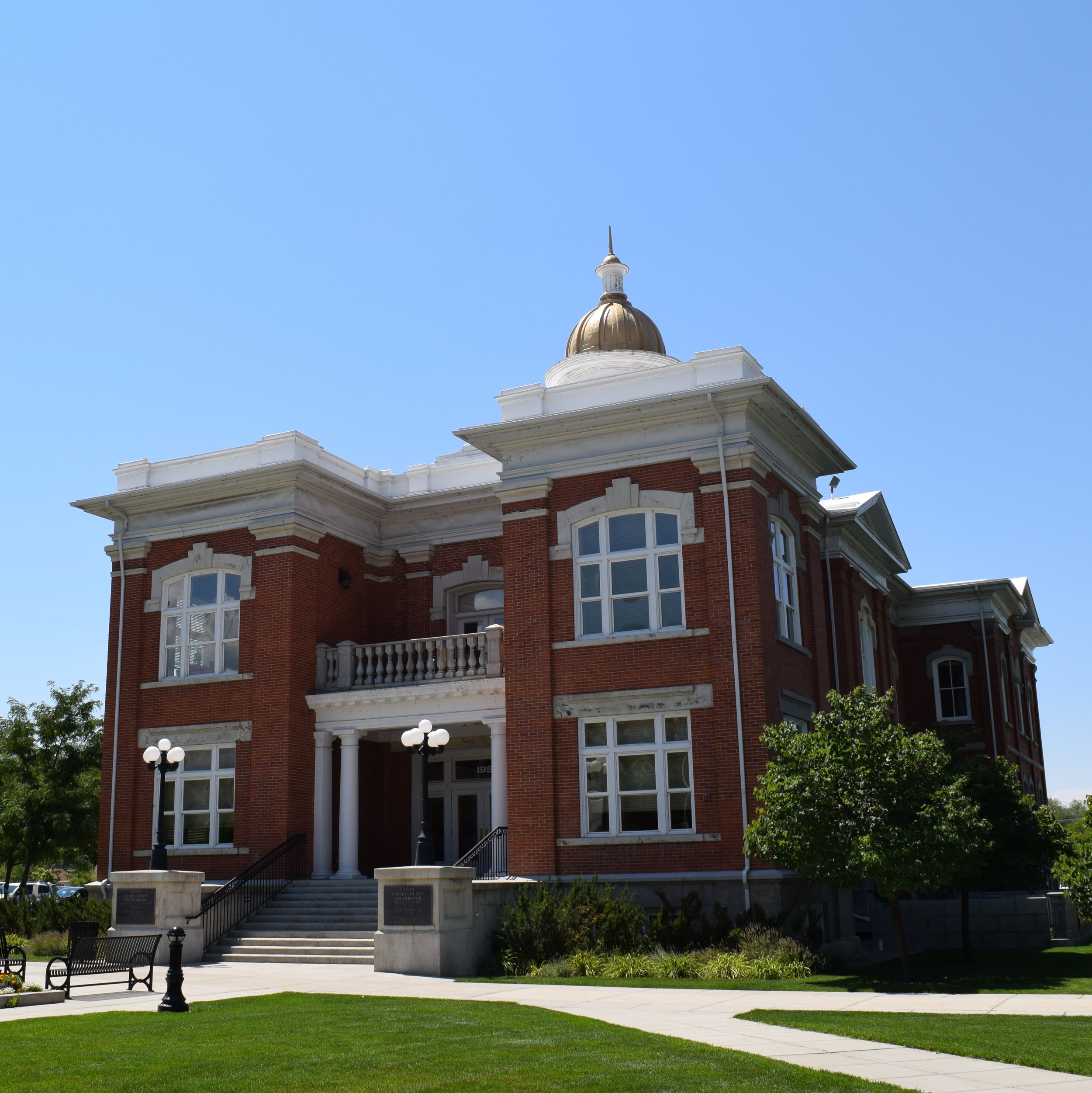 The old Cache County Courthouse in Logan, Utah.