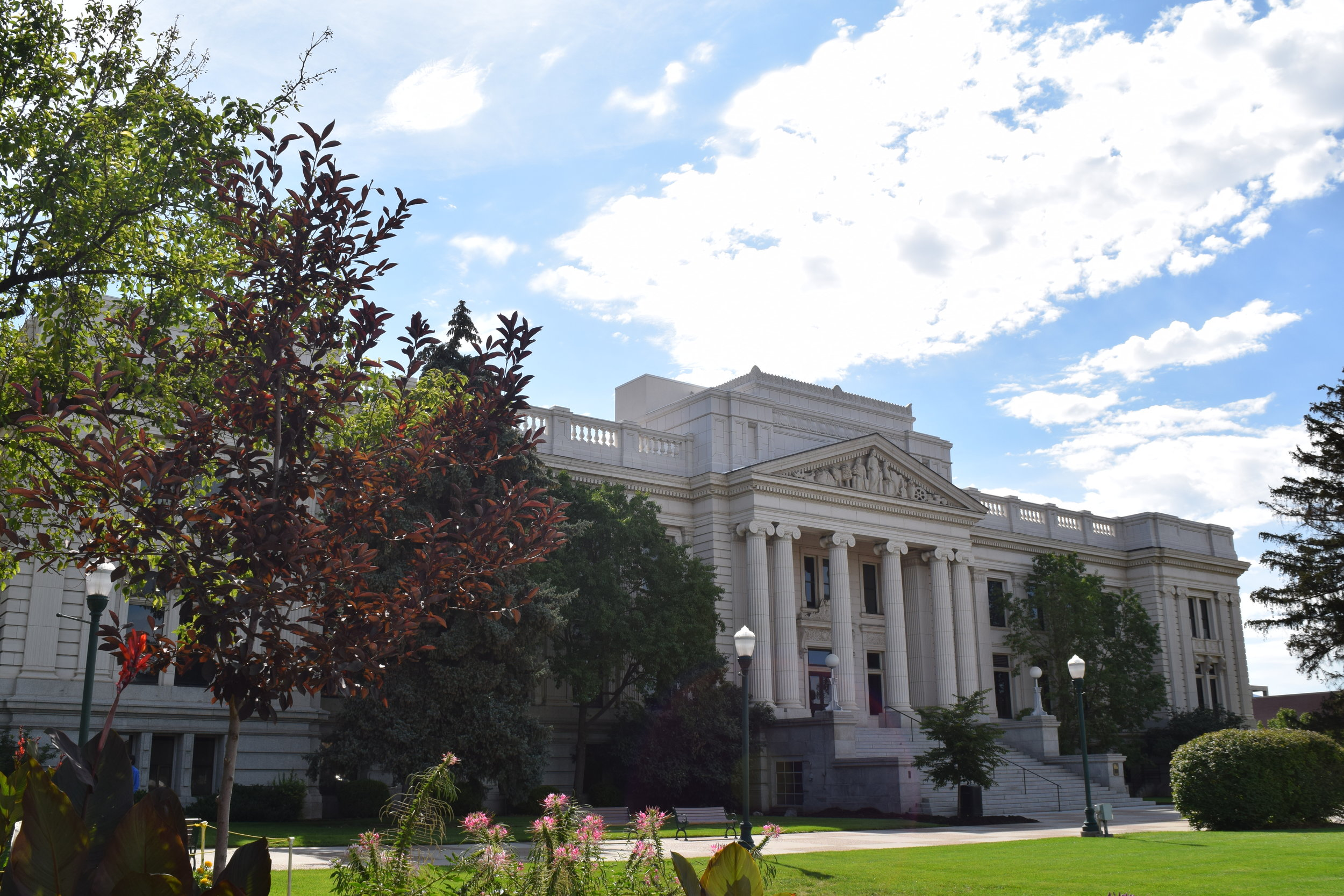 The old Utah County Courthouse in Provo, Utah.