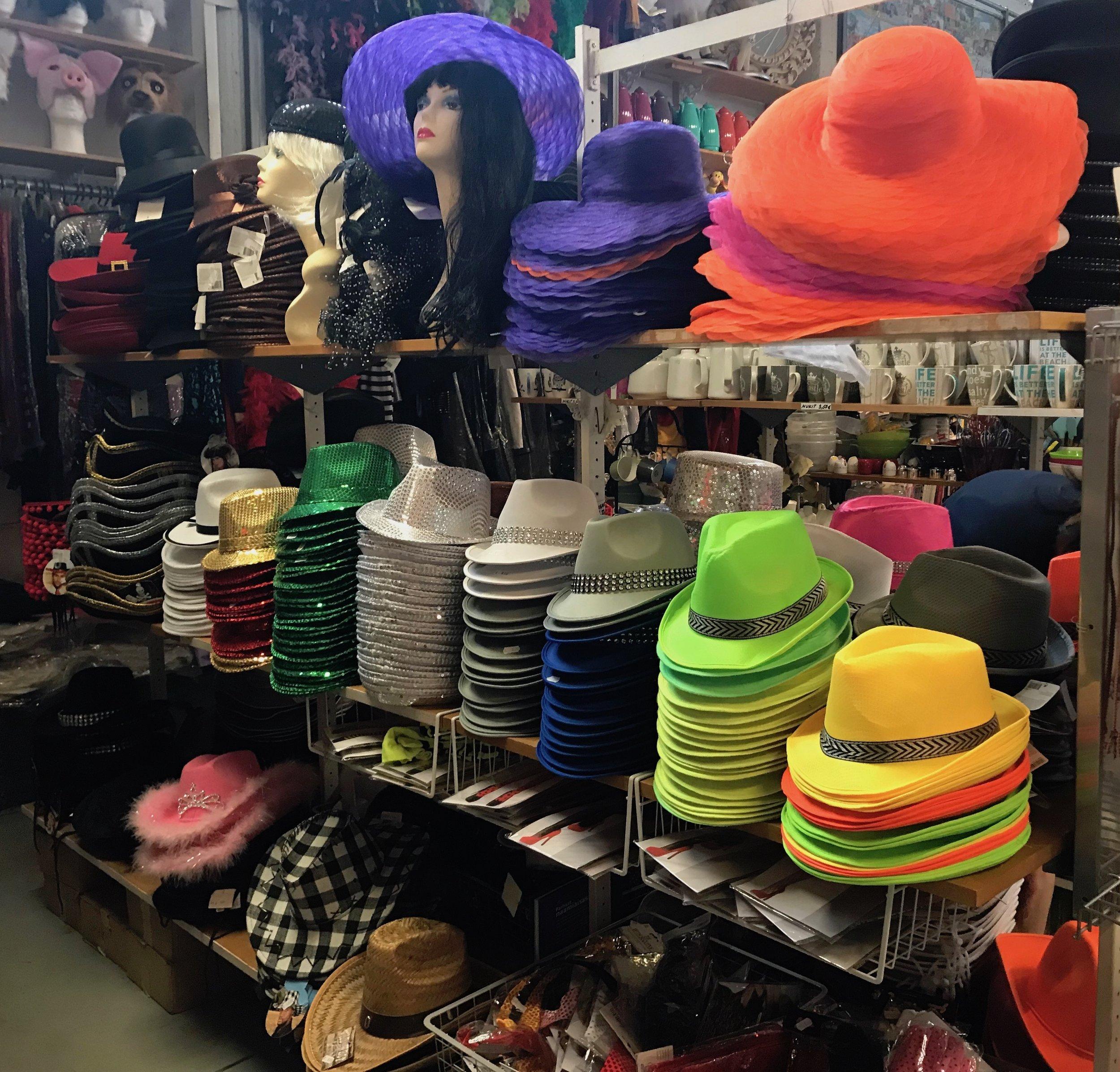 Paljon erilaisia hattuja 3,50€-14€