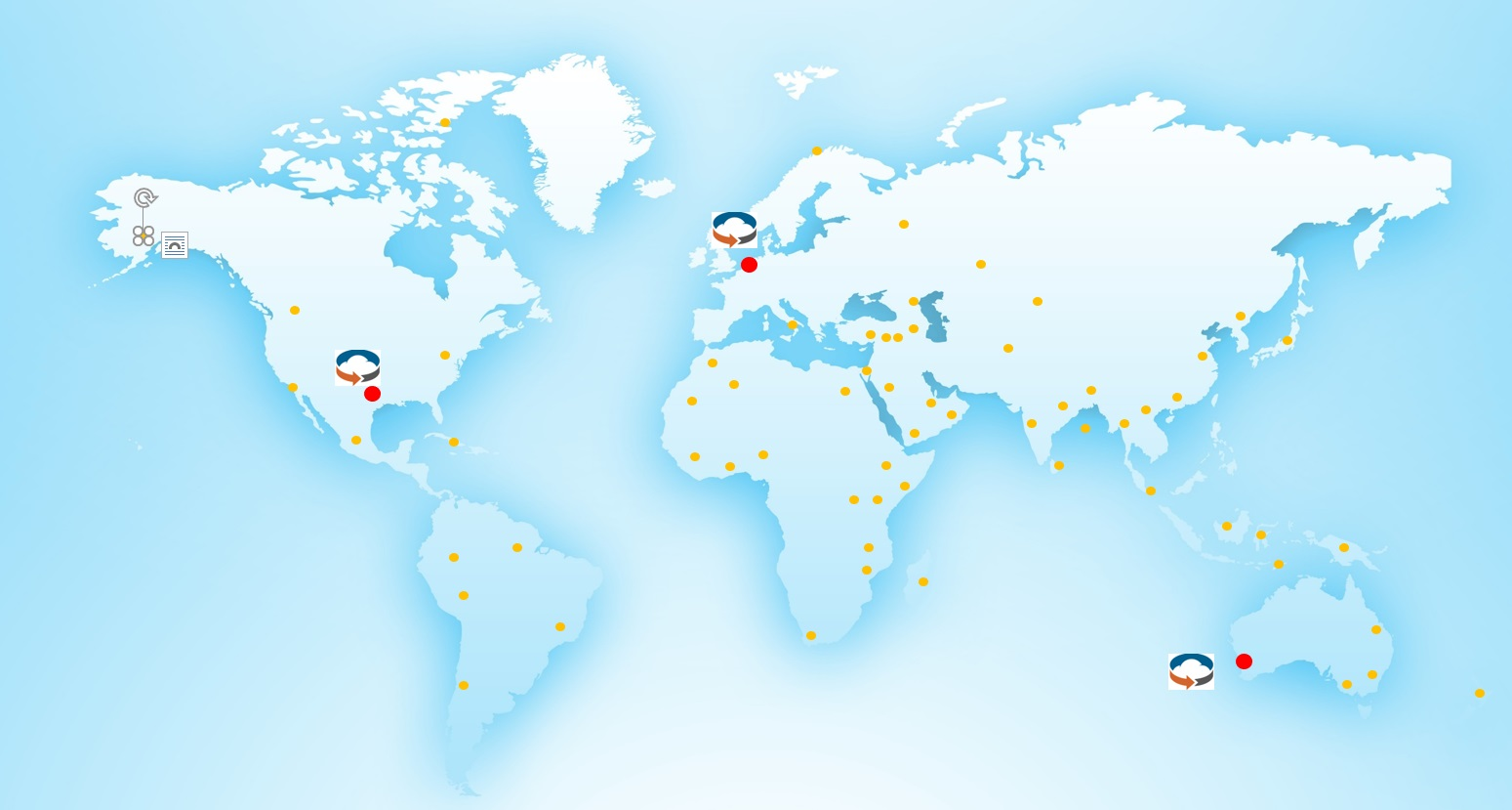 Map detailing global Tape Ark facilities and locations from where data has been liberated