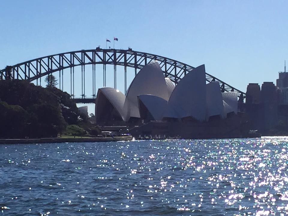 OPERA HOUSE AND HARBOUR BRIDGE FROM THE ROYAL BOTANICAL GARDENS