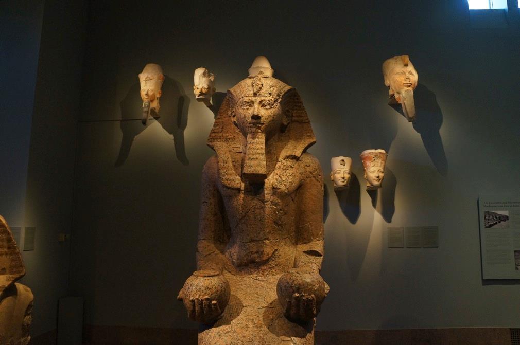 ANCIENT EGYPTIAN EXHIBIT AT METROPOLITAN MUSEUM