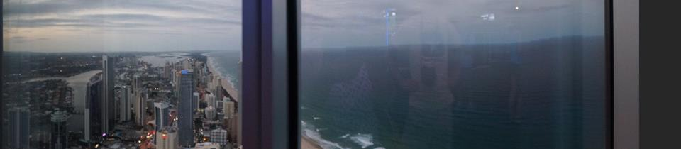PANORAMIC VIEW OF SURFER'S PARADISE FROM THE SKYPOINT OBSERVATION DECK