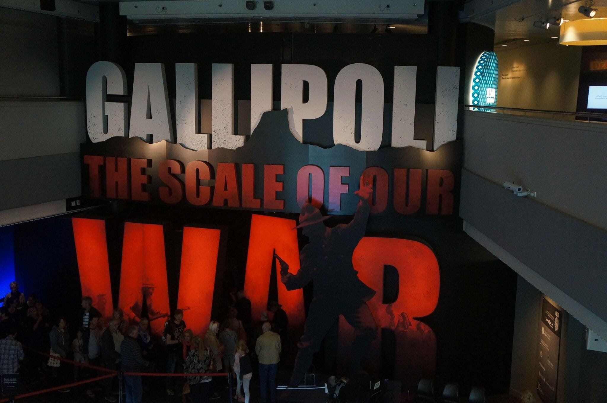 ENTRANCE TO THE GALLIPOLI EXHIBIT AT TE PAPA MUSEUM
