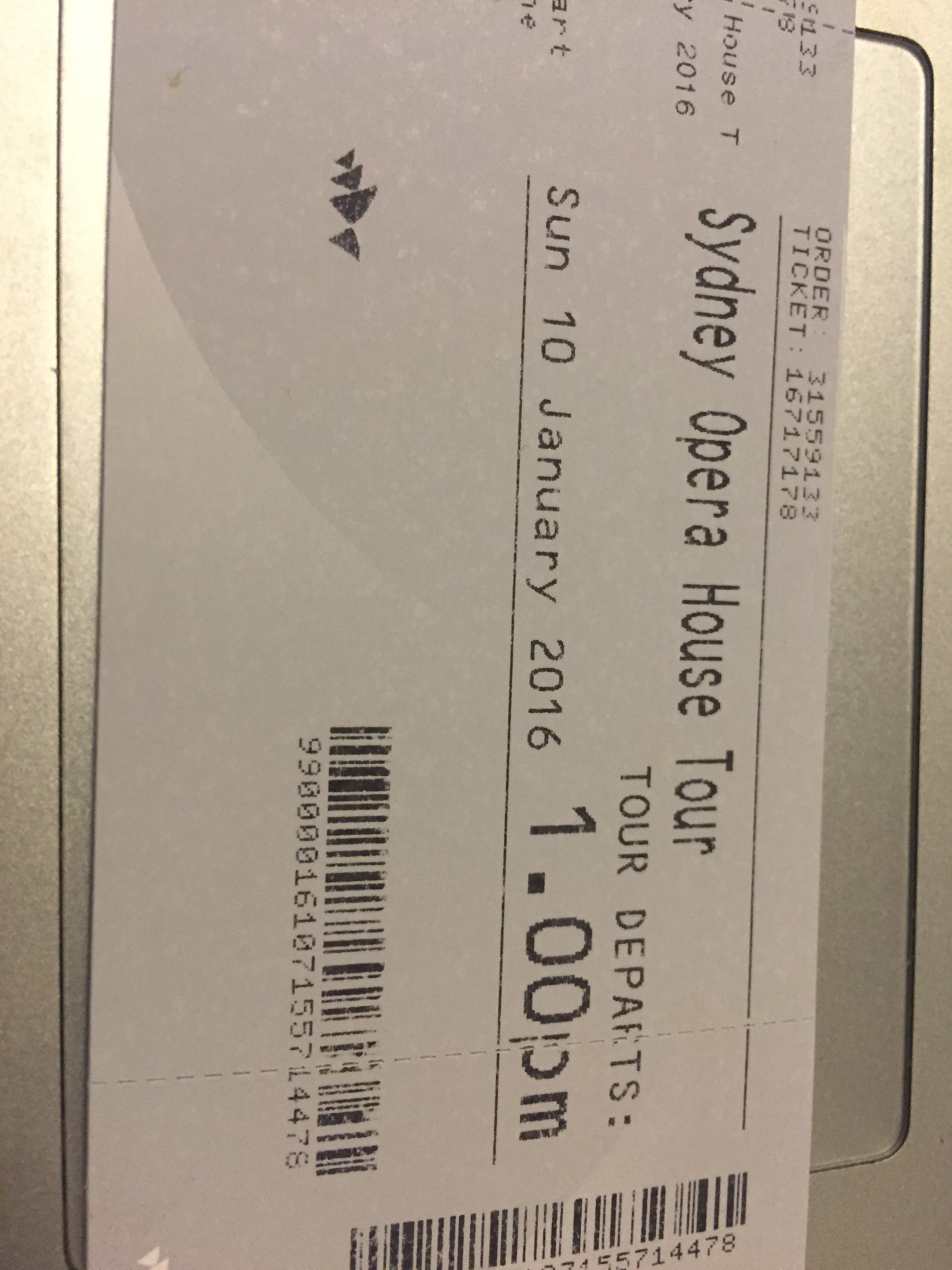 TICKETS TO THE SYDNEY OPERA HOUSE TOUR