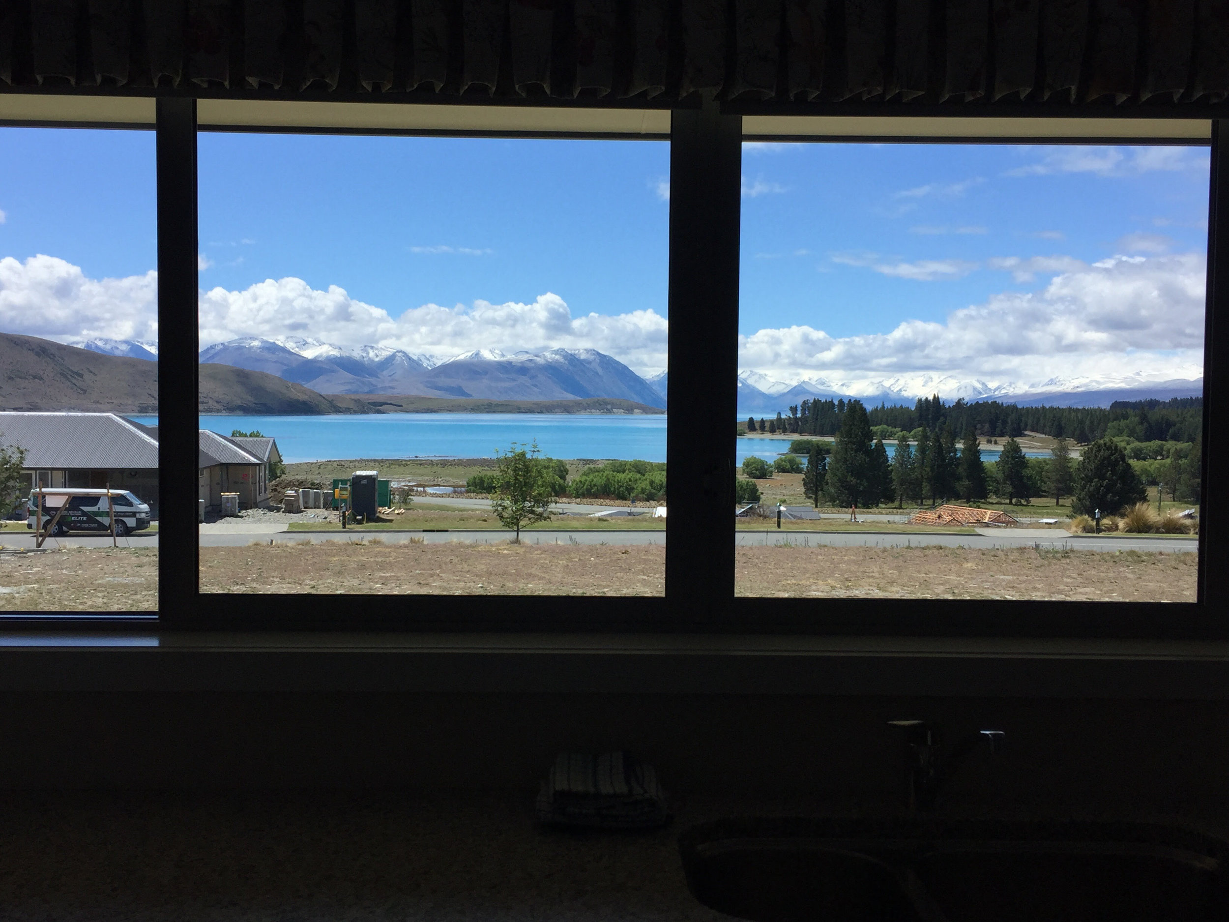 VIEW FROM OUR HOLIDAY HOME IN LAKE TEKAPO