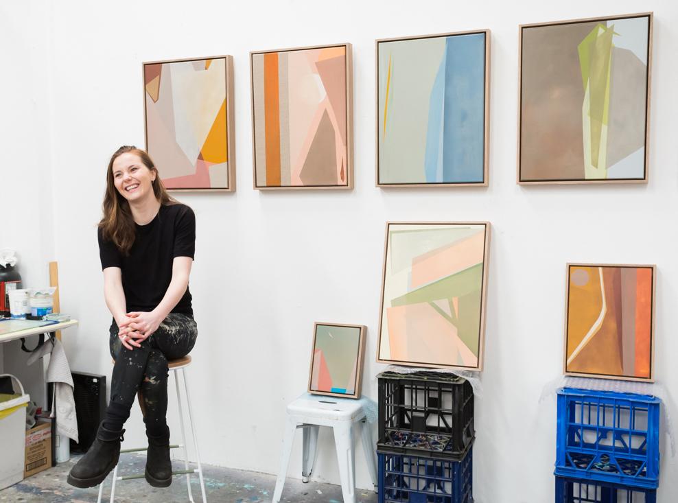 Caroline Collom Studio visit Collab