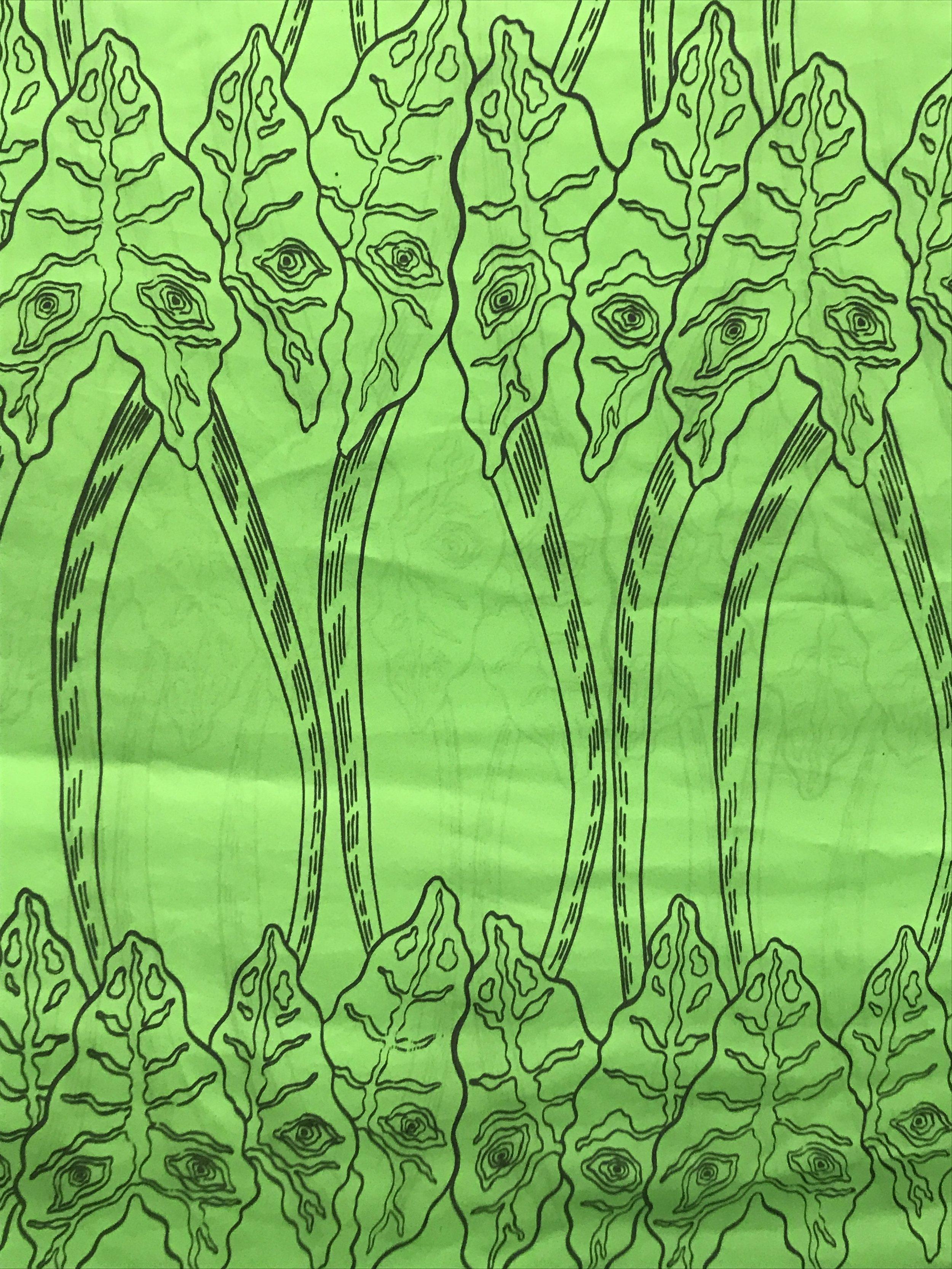 Leering Alocasia – Used Fabric