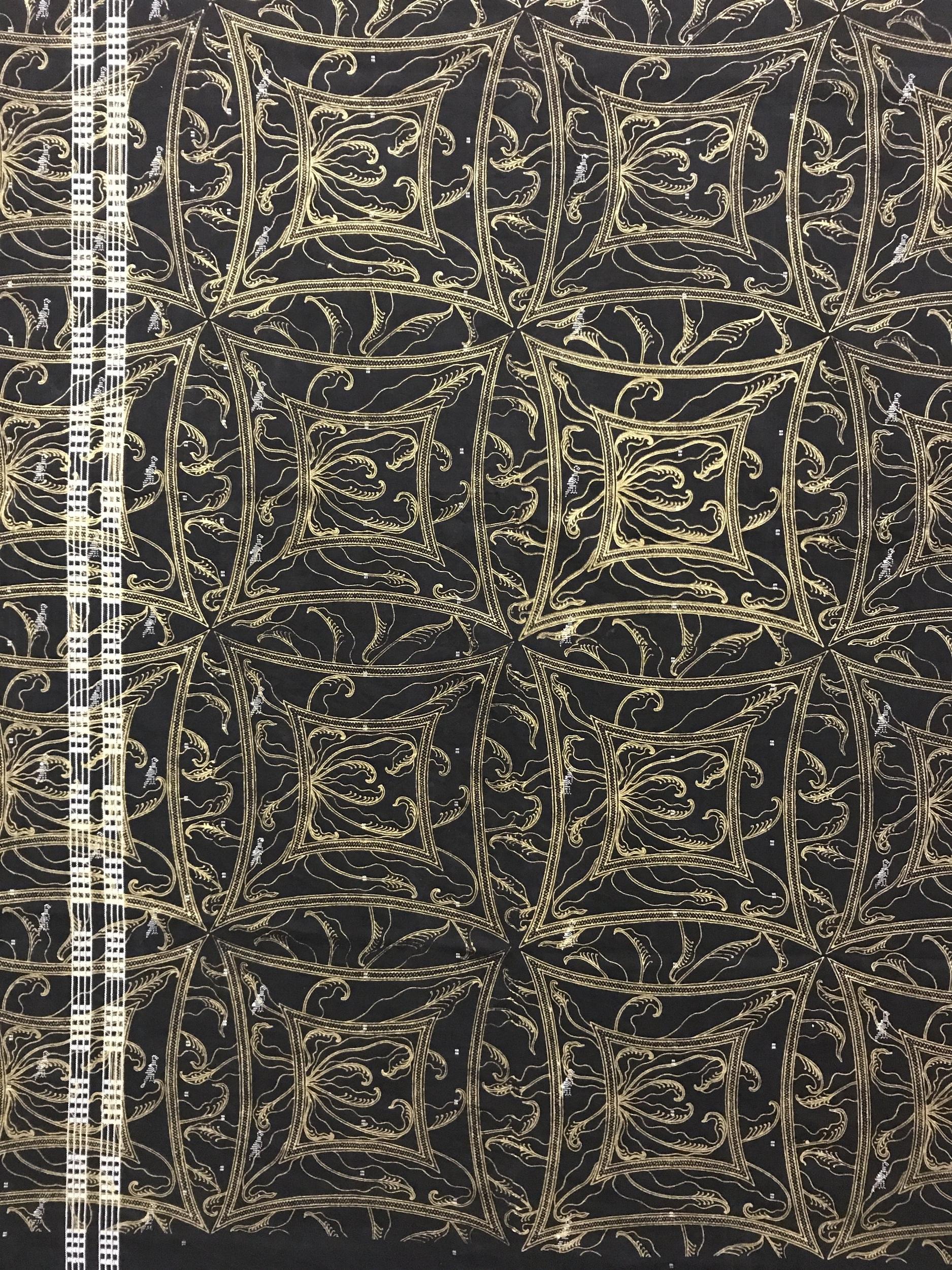 Javanese Batik Fern – Used Fabric