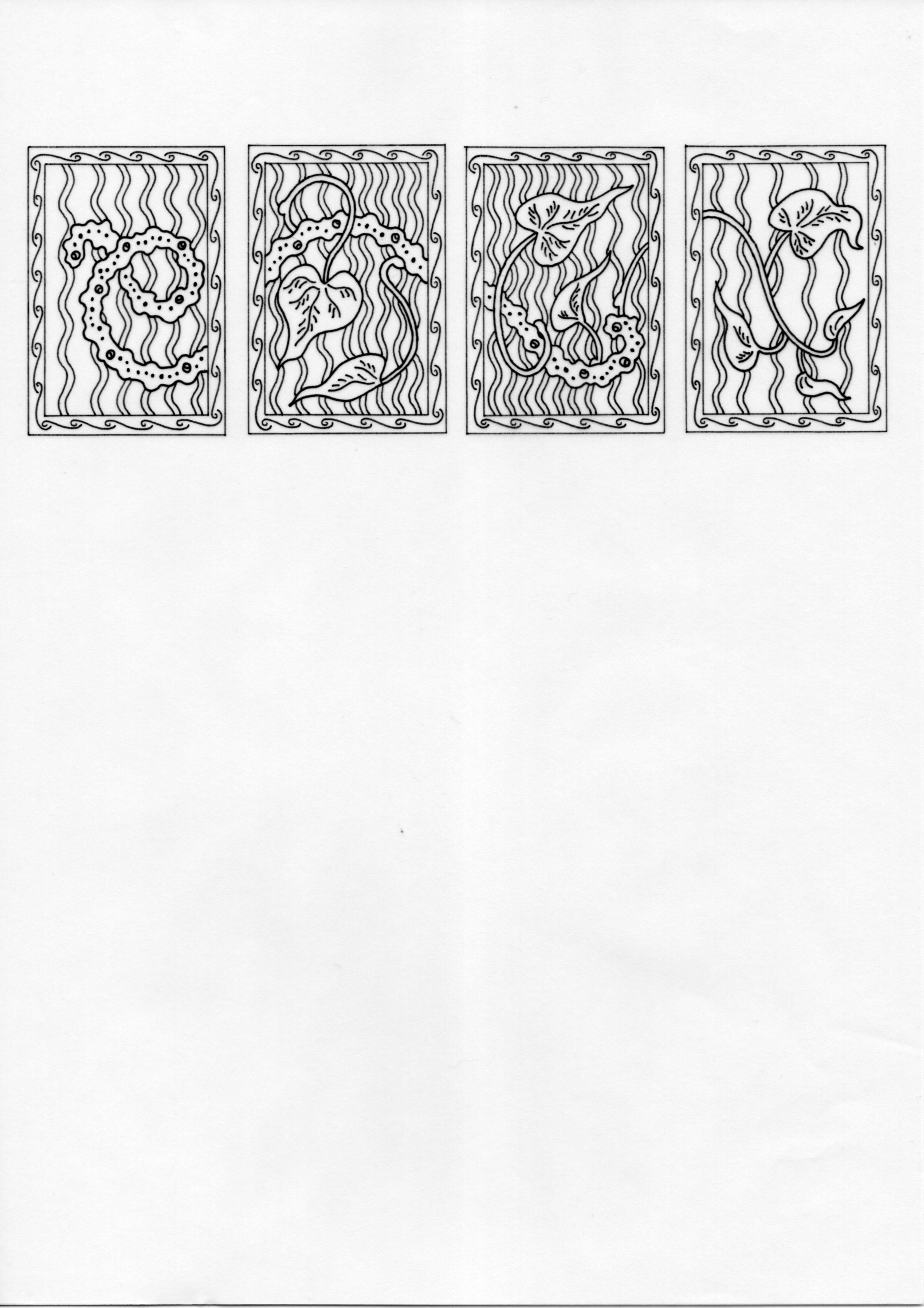 Ambulatory Tilospora – Inked Drawings