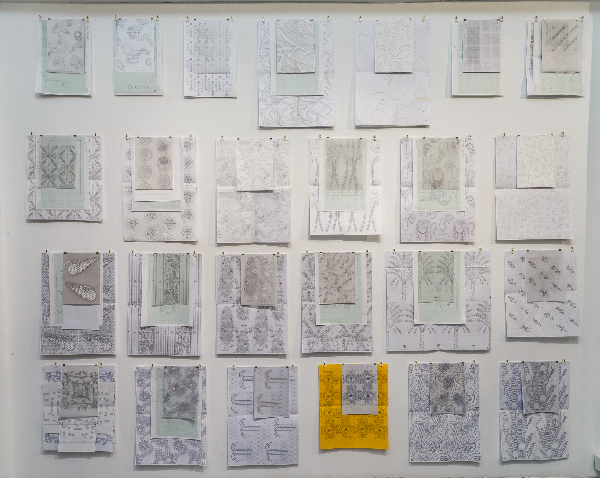 Installation of 25 working drawings