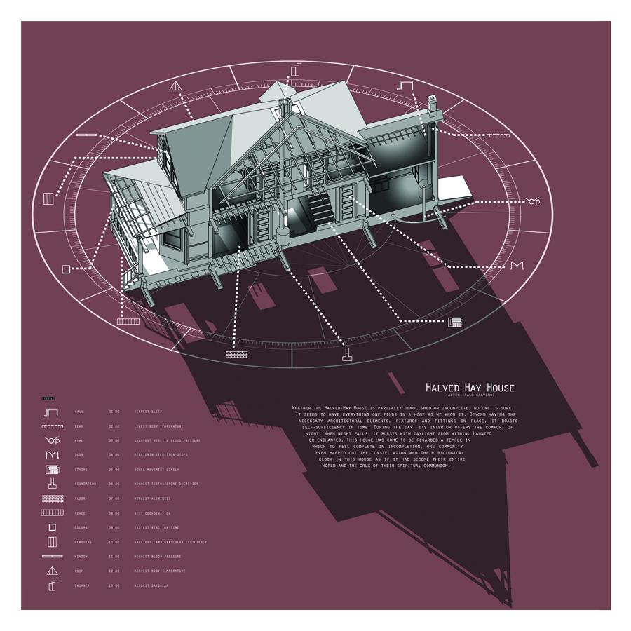 Halved-Hay House (after Italo Calvino)