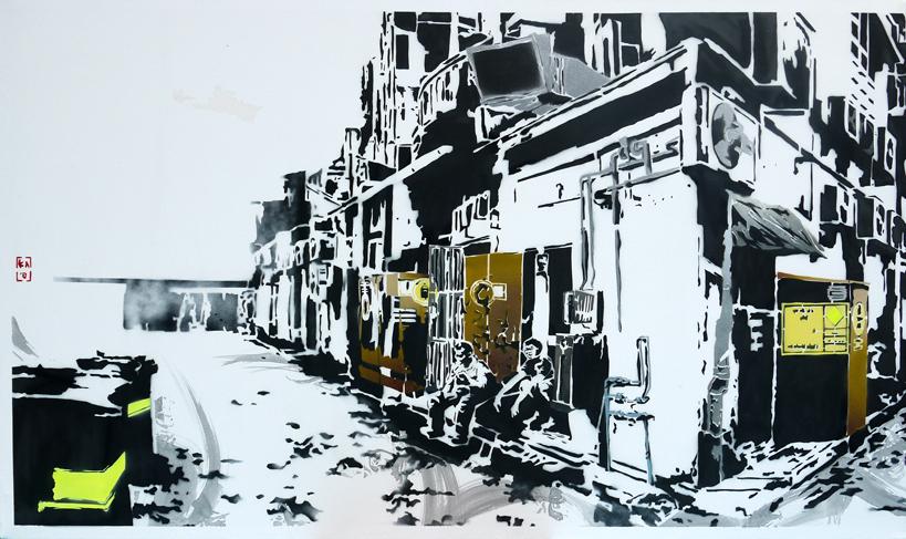 Back Alleys (Diptych I)