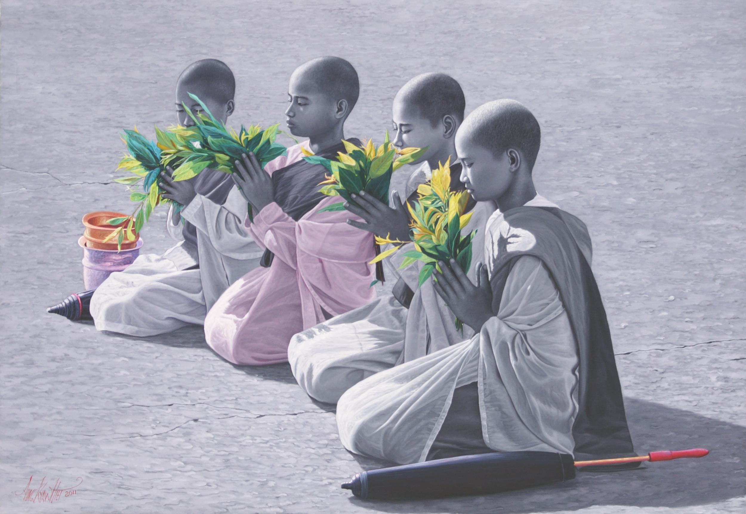 Four Praying Nuns
