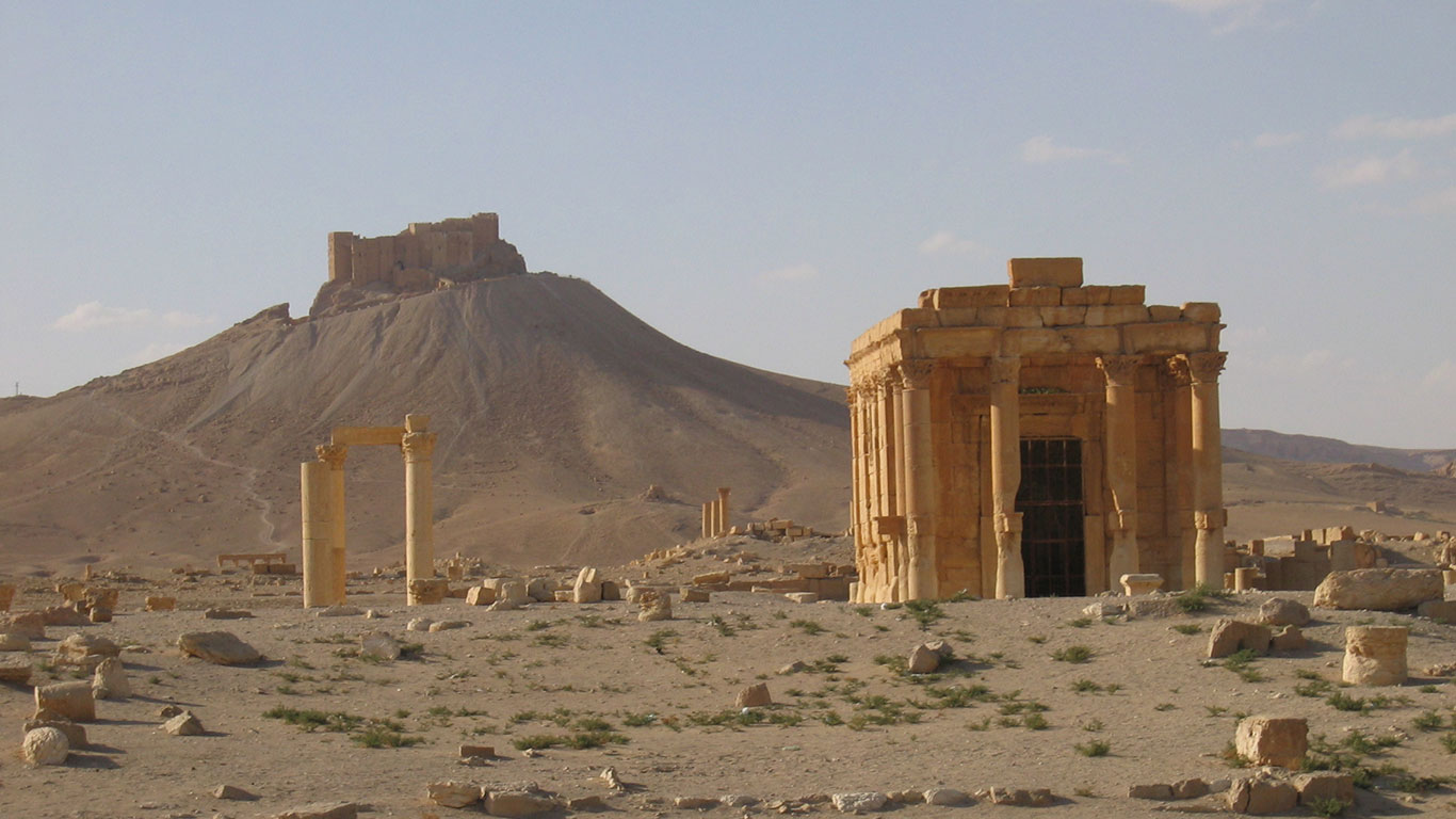 Temple of Baal Shamin in Palmyra, Syria.From Wikimedia Commons