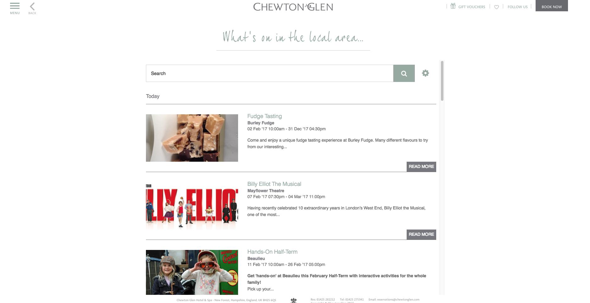 Chewton Glen Events Widget.png